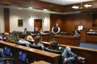 Western Hills students go to court in mock trial