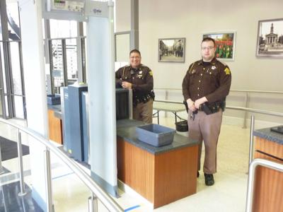 You Asked: Why do some people get to go around the security system at the courthouse?