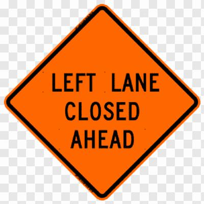 Left lane closed