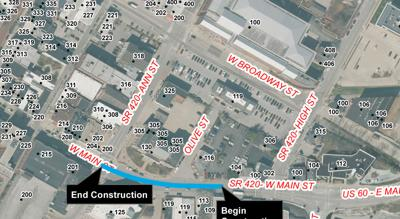 FPB Water Main construction map