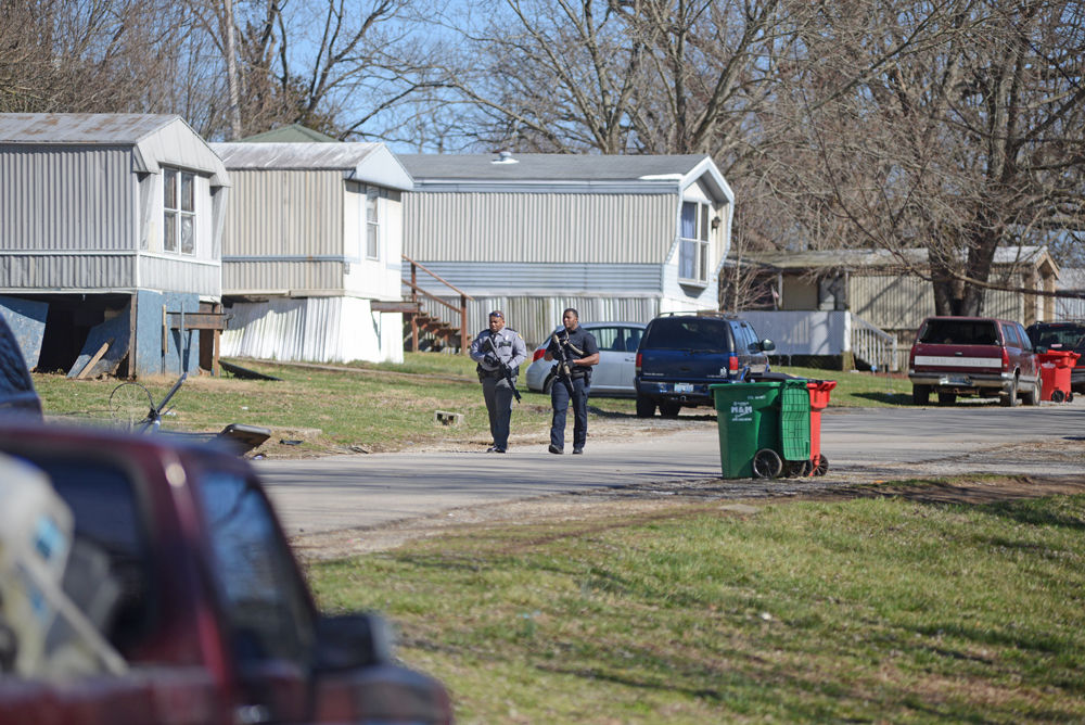 Trailer park standoff ends quietly with litany of charges