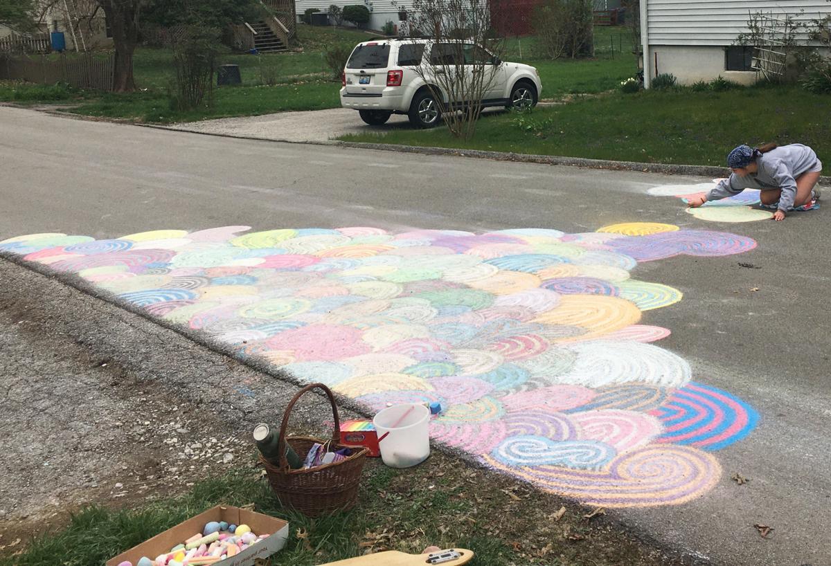 Chalk it up to creativity: FCHS senior brightens neighborhood street