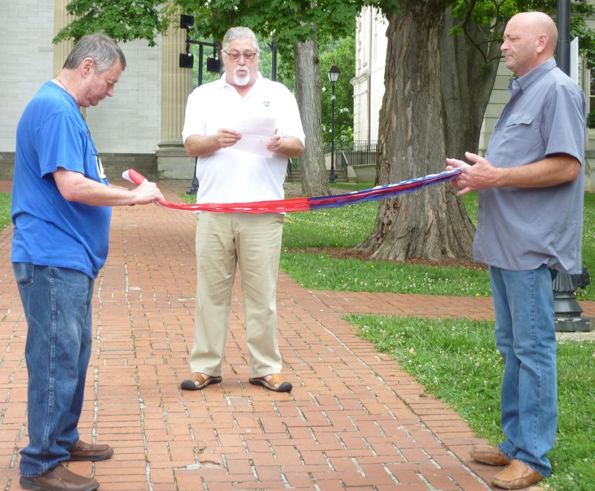 Elks #530 flag folding ceremony
