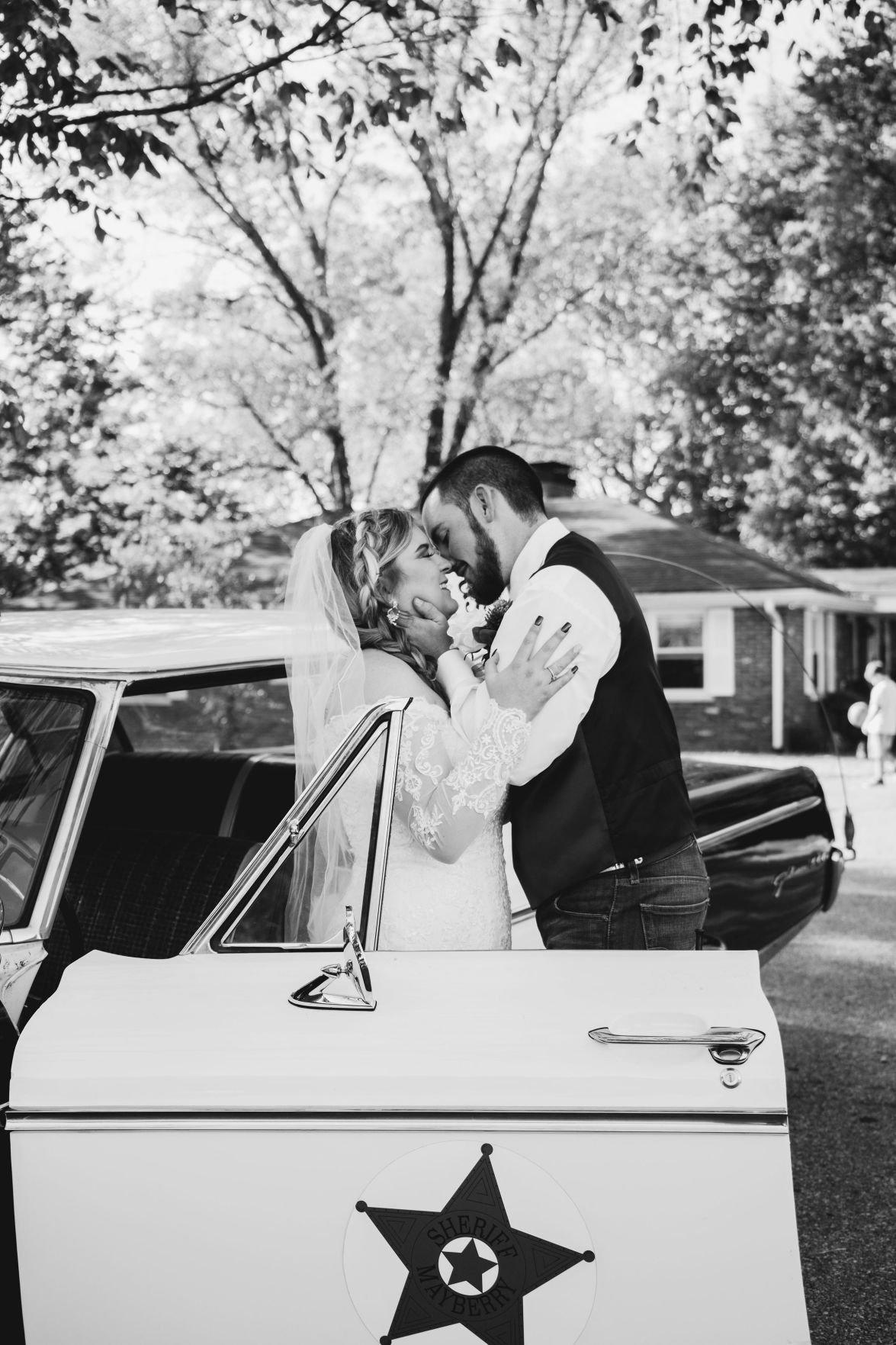 Stanfield wedding kiss