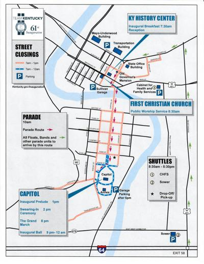 Inauguration Parade route