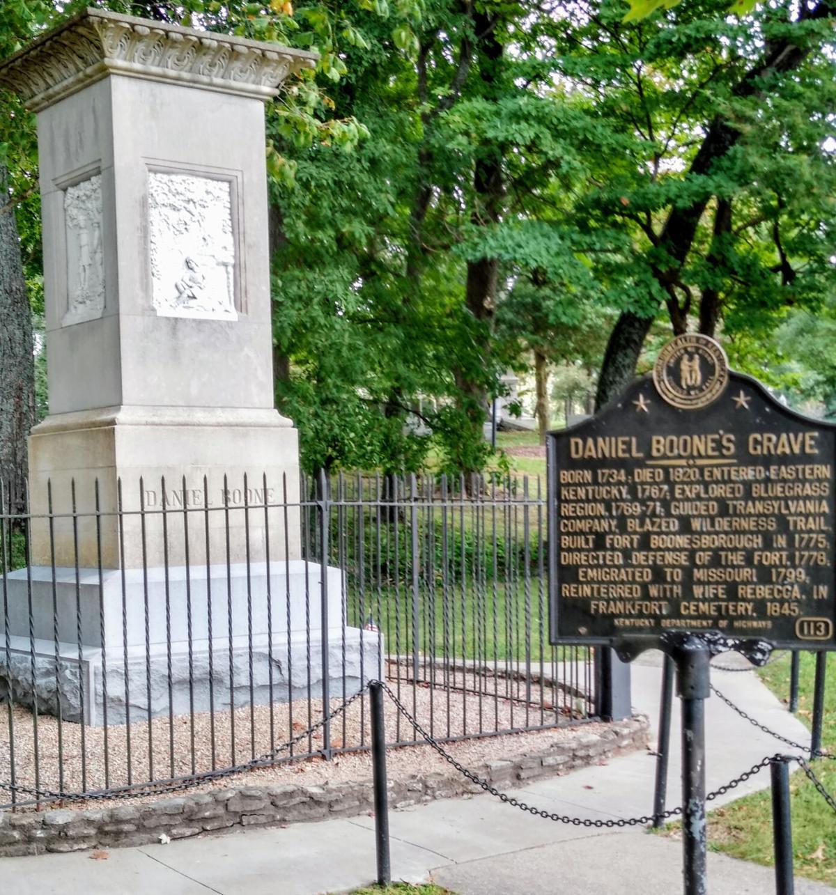 Daniel Boone marker and monument.jpg