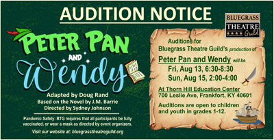Peter Pan and Wendy auditions