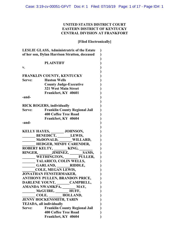 Dylan Stratton lawsuit