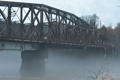 Broadway Bridge fog
