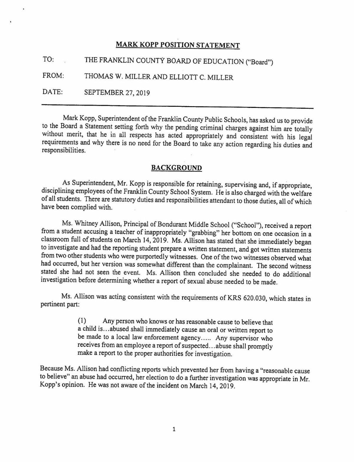 Miller_Kopp statement