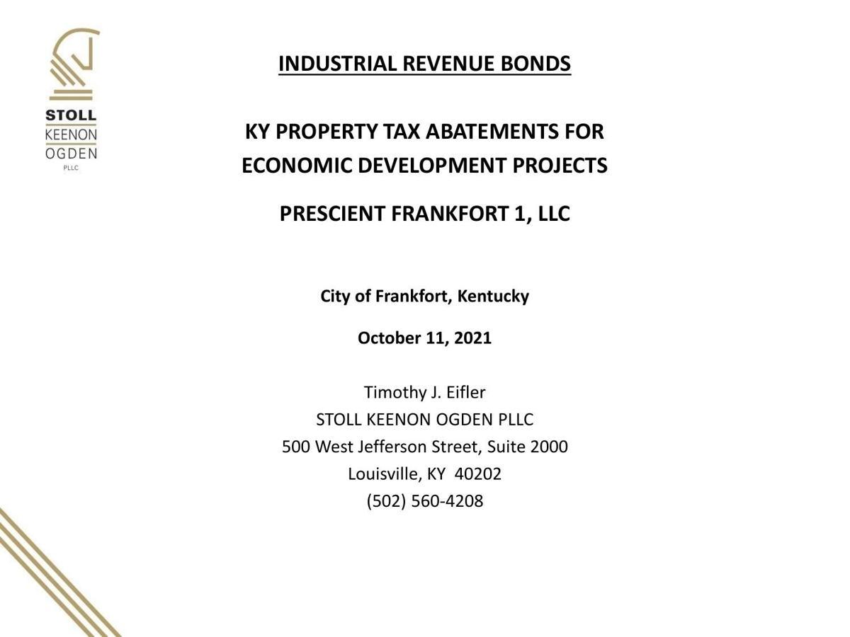 Industrial revenue bonds powerpoint