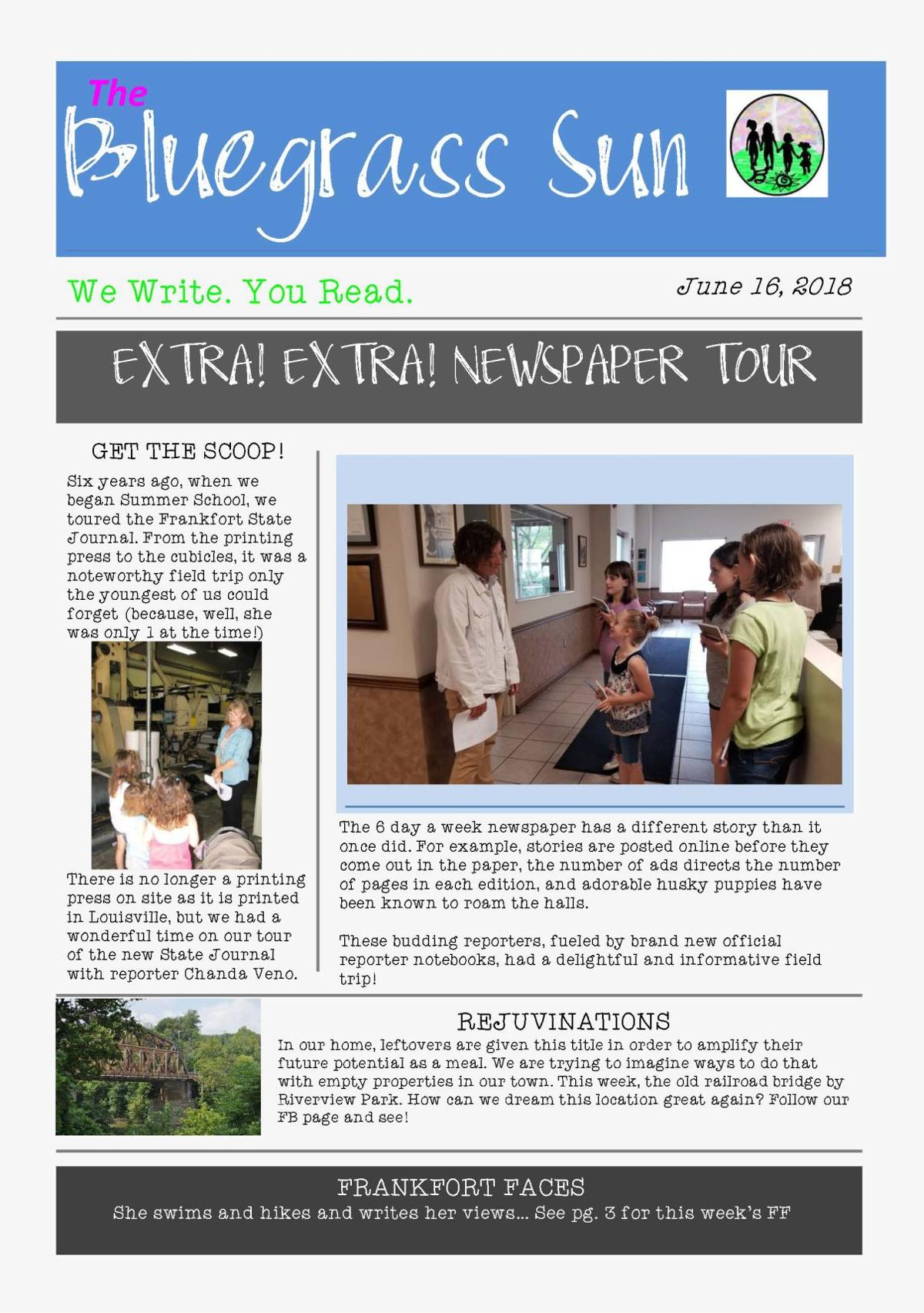 Education Spotlight: Newspaper is summer family project for Napier girls