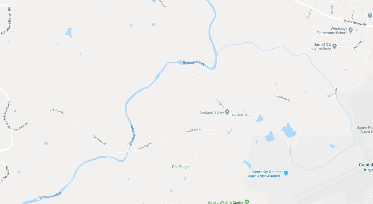 Pea Ridge Road map