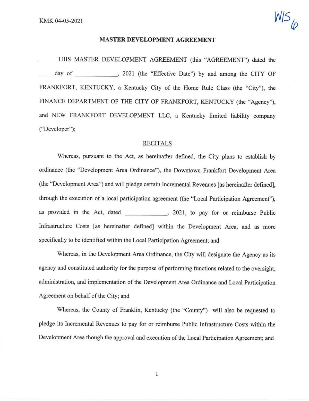 Parcel B/C Development Agreement