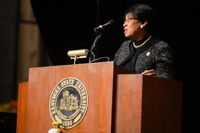 President Mary Sias says Kentucky State will cut back, but move forward