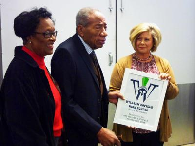 William Cofield honored at new 'conceptual' high school