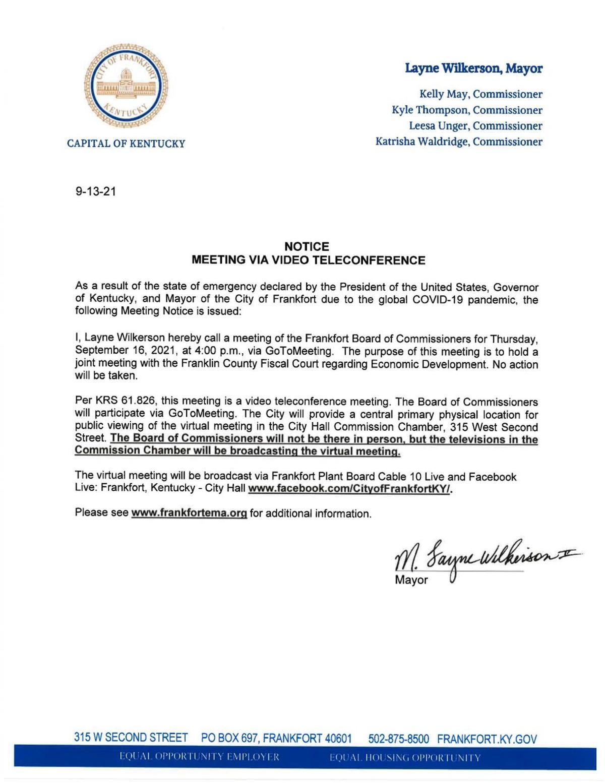 City-County joint agenda