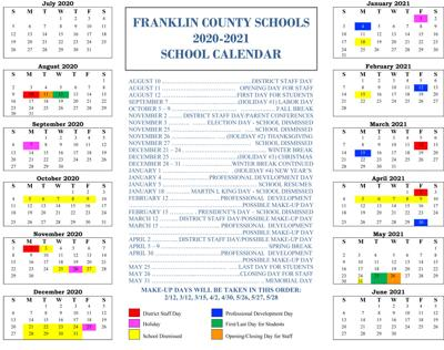 Franklin County Schools approve 2020 21 calendar | Education