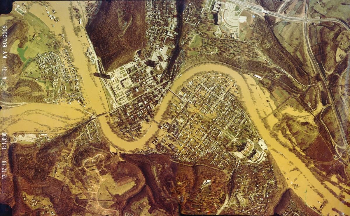 1978 flood aerial shot