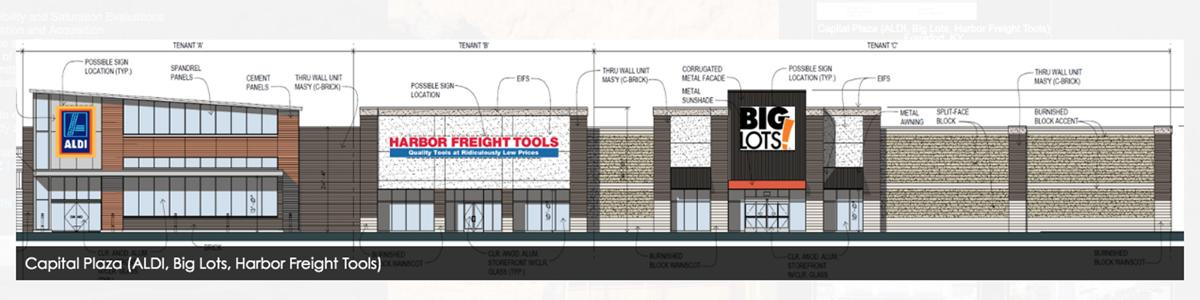 1300 U.S. 127 ALDI, Harbor Freight and Big Lots graphic