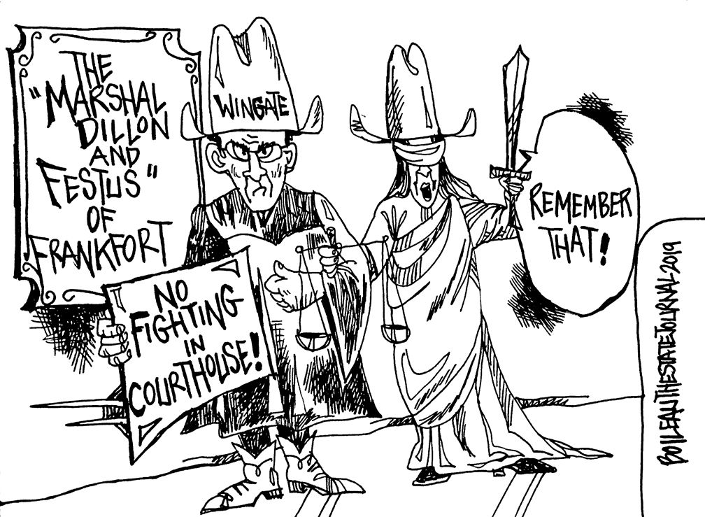 CARTOON: No fighting in Franklin County Courthouse