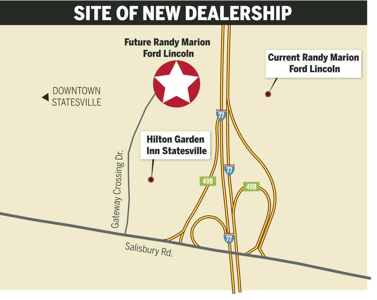 randy marion ford lincoln dealership to move across i 77 in statesville news. Black Bedroom Furniture Sets. Home Design Ideas