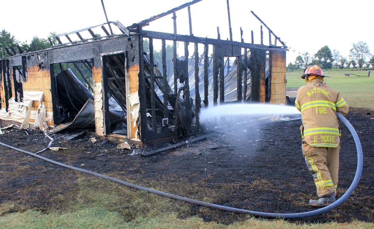 Brown Farms Drive shed fire