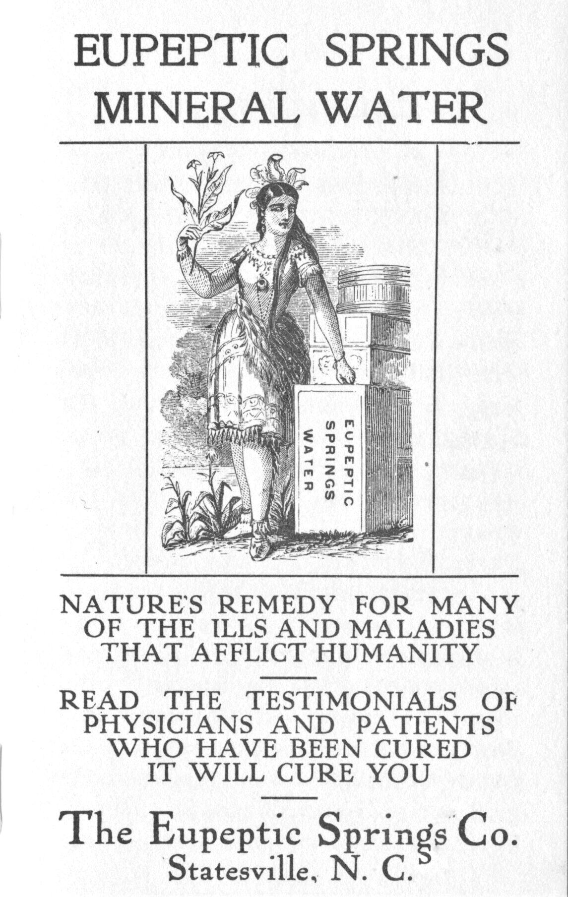 Eupeptic Spring ad, c. 1908.jpg