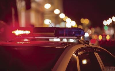 Police blue lights