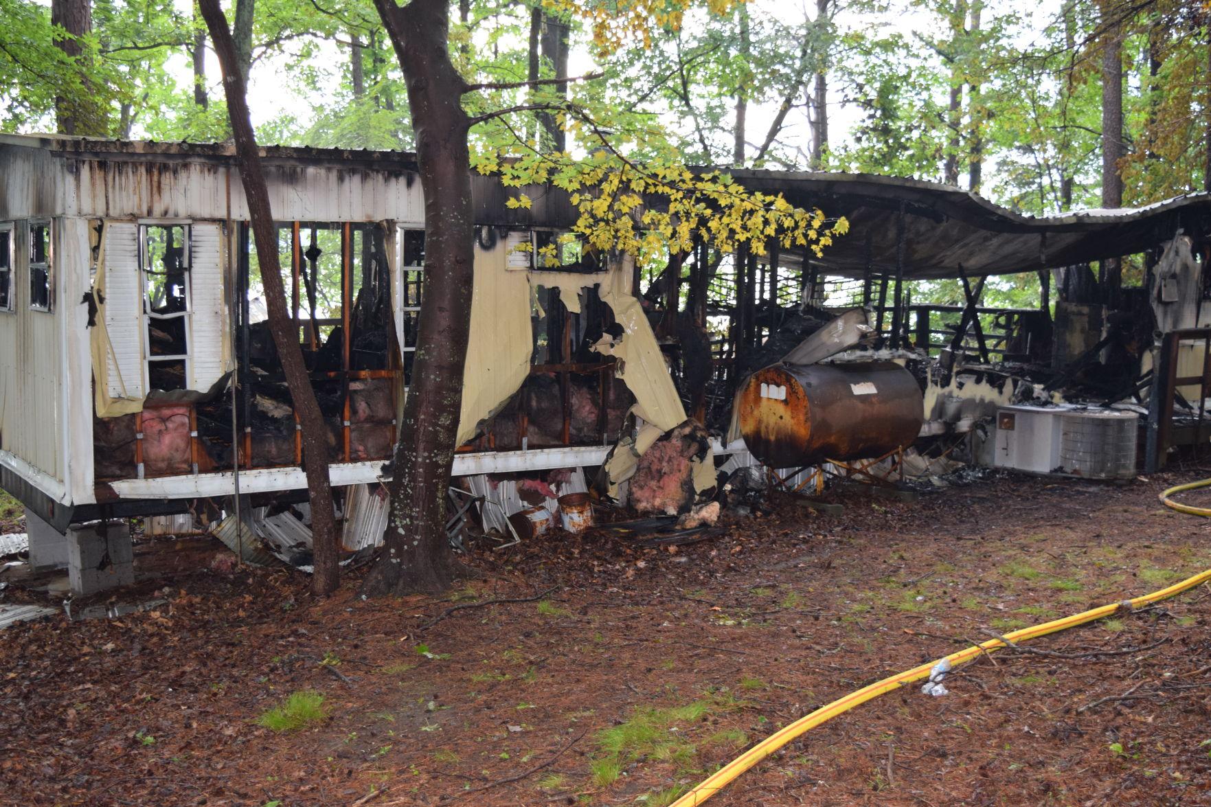 6 7 Fire 1jpg Lightning strike sparks fire