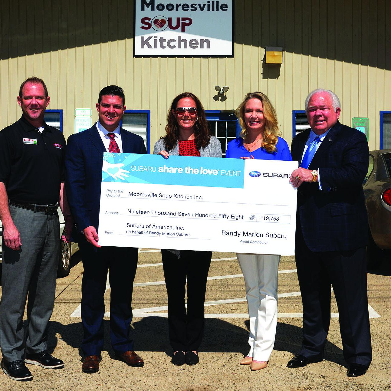 Randy Marion Mooresville >> Subaru Share The Love Randy Marion Donate Almost 20k To
