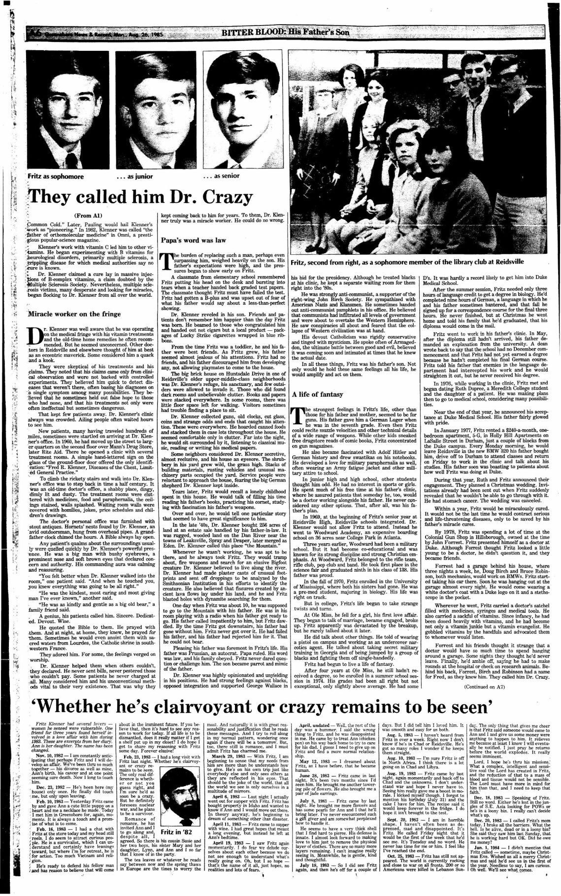 Bitter Blood: They called him Dr. Crazy