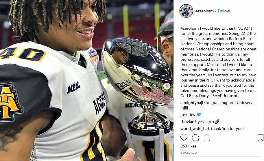Mercedes Benz Of Greensboro >> A&T football star Darryl Johnson declares for early entry