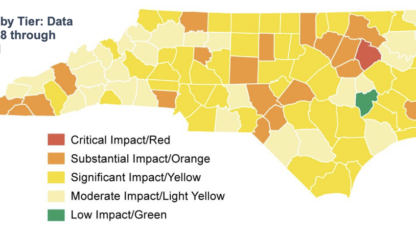 Iredell upgraded to Yellow status by NCDHHS, reports 49 new COVID-19 cases Friday