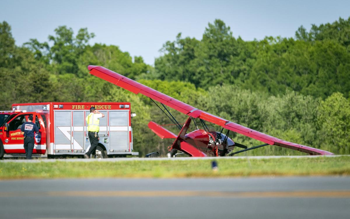Plane crashes at Smith Reynolds Airport