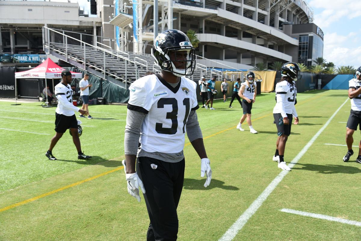 Breon Borders - Jaguars practice 1