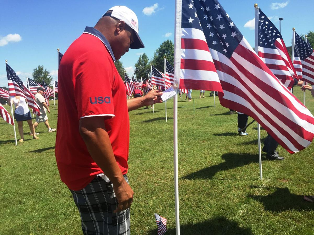 Hundreds gather at Field of Flags event in Mooresville