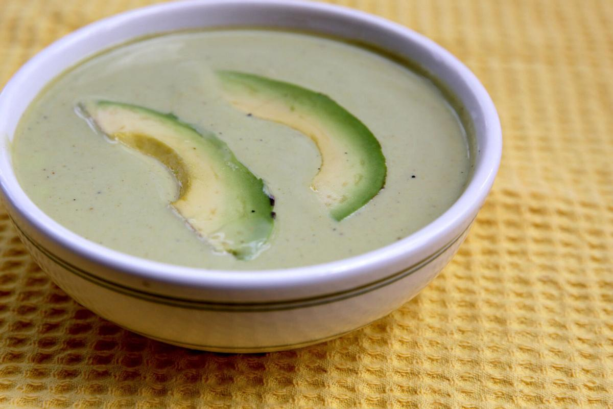 Curried Avocado Soup.