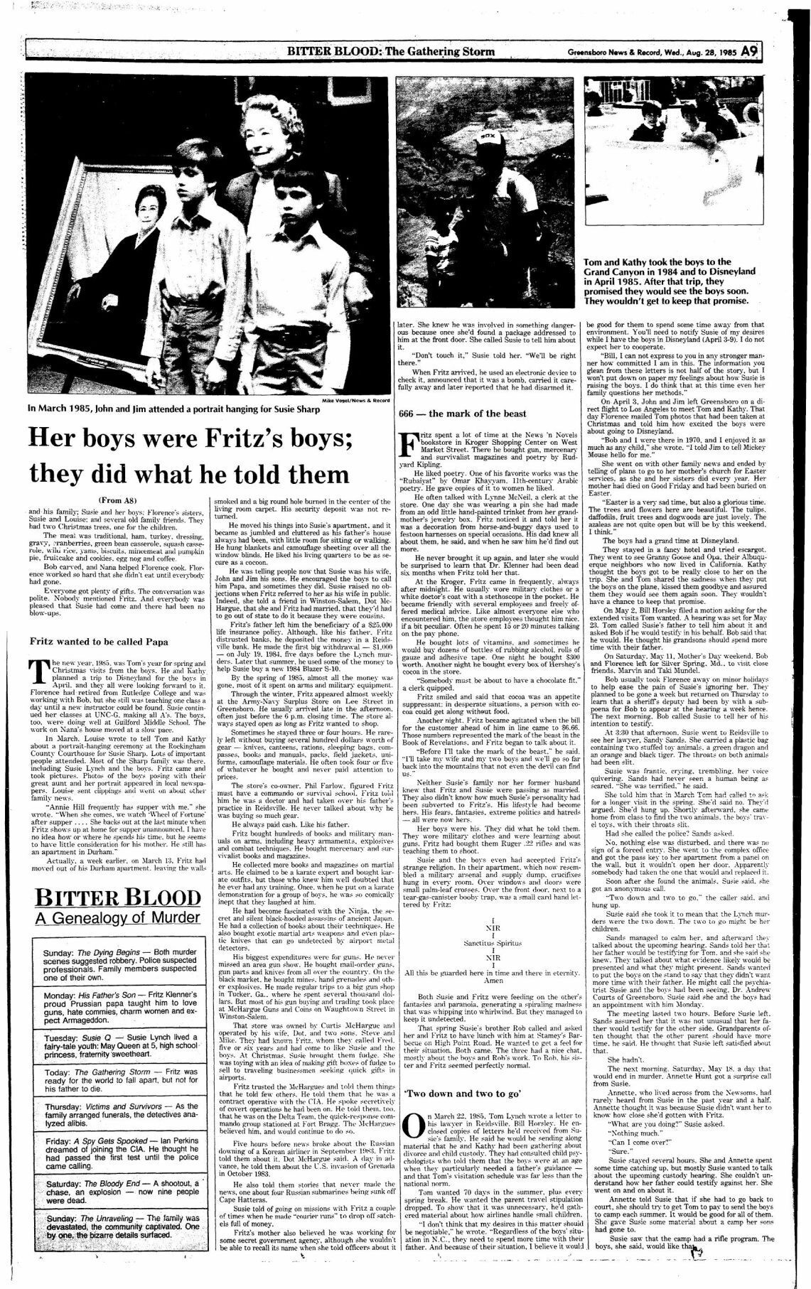 Bitter Blood: Her boys were Fritz's boys, they did what he told them