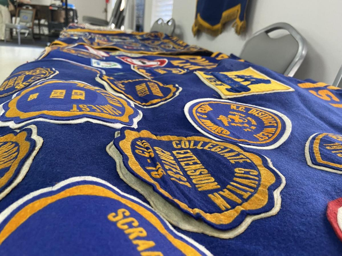 The Statesville Civitan Club's banners lay on a table at Wesley Memorial United Methodist in Statesville on Tuesday.