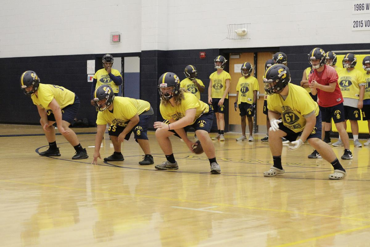 South Iredell first football practice