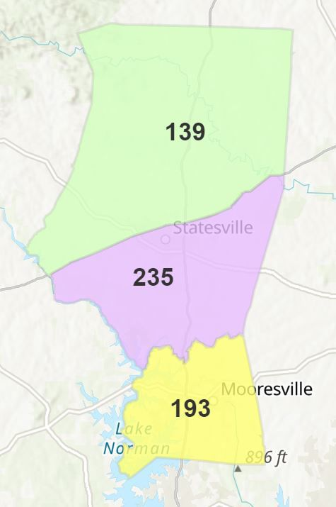 Iredell County map
