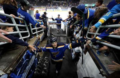 Columbus Blue Jackets vs the St. Louis Blues, pre-season