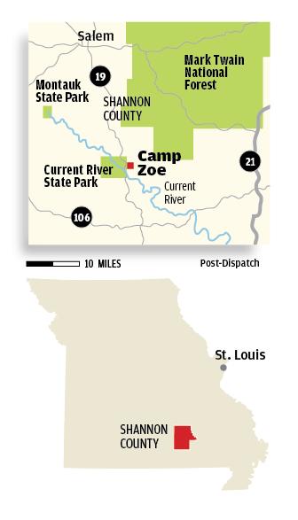 Camp Zoe locator map