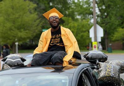University City High School drive by graduation