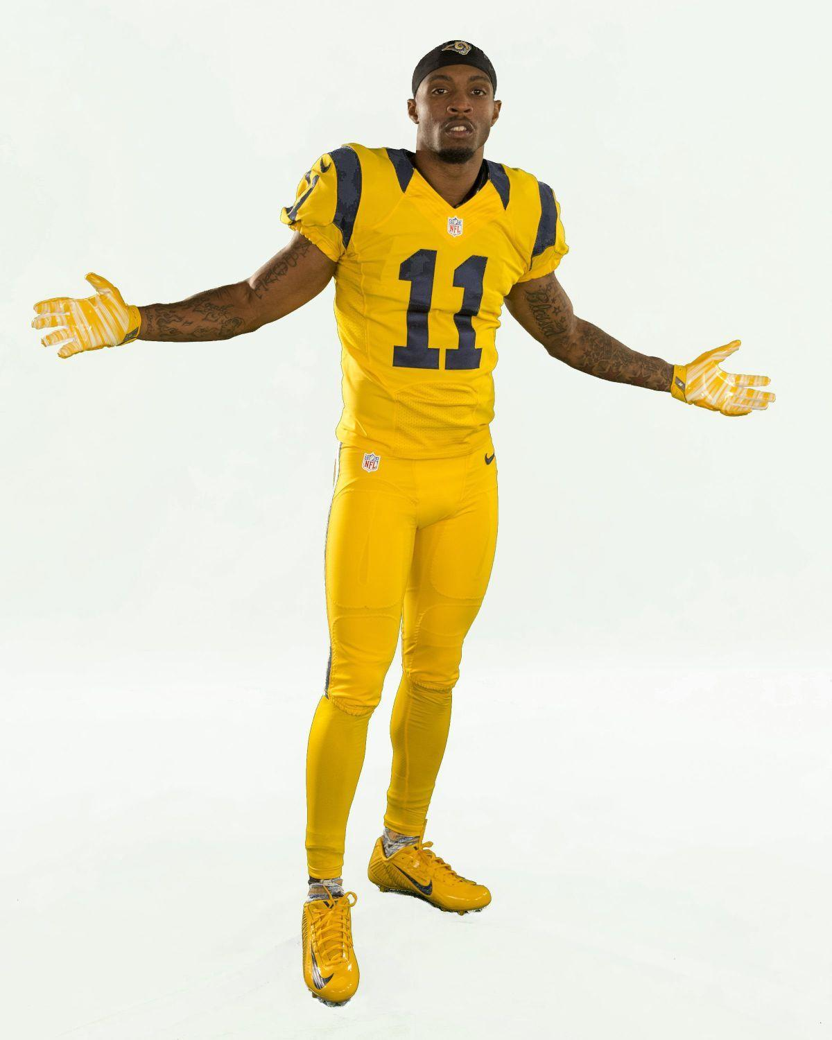 Rams will wear all-yellow uniforms in final home game ...