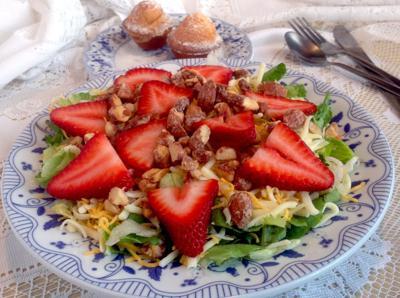 Tossed strawberry salad