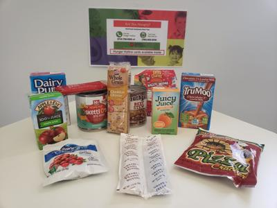 A sample of an emergency food pack