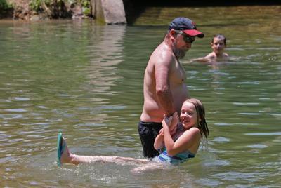 Cooling off in Kiefer Creek
