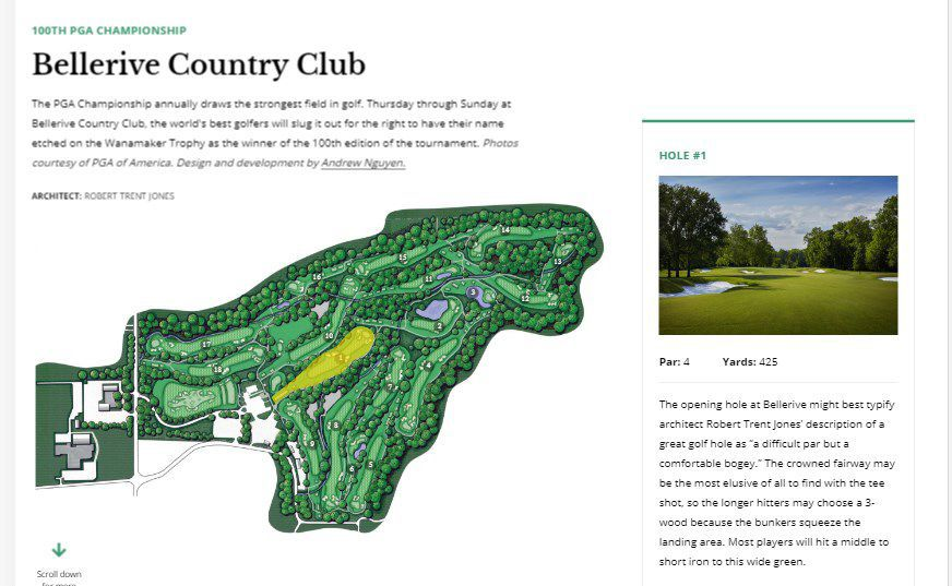Hole-by-hole interactive of how Bellerive will play for PGA